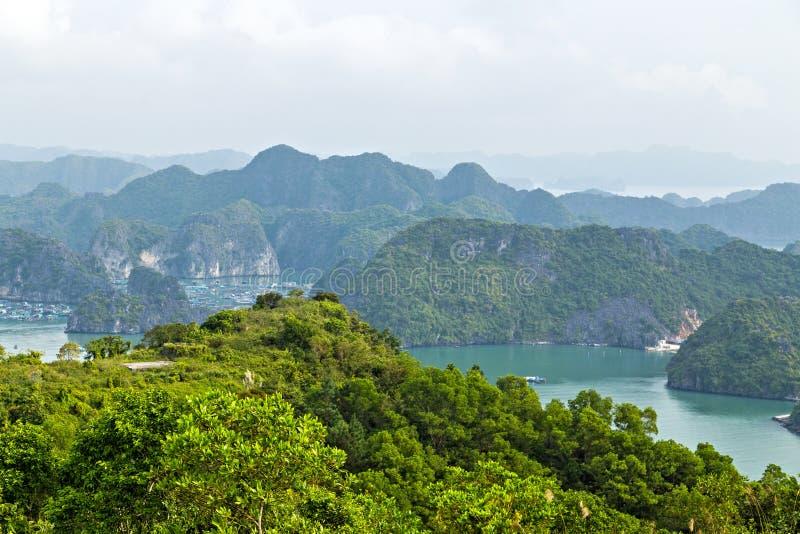 Halong-Buchtinselgebirgsbildungen Südchinesisches Meer Vietnam Standort Asien lizenzfreies stockbild