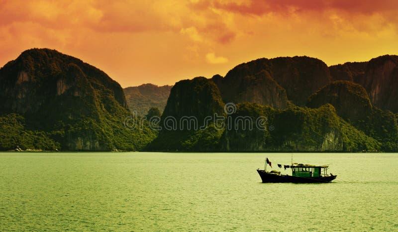 Halong Schacht, Vietnam stockfotos