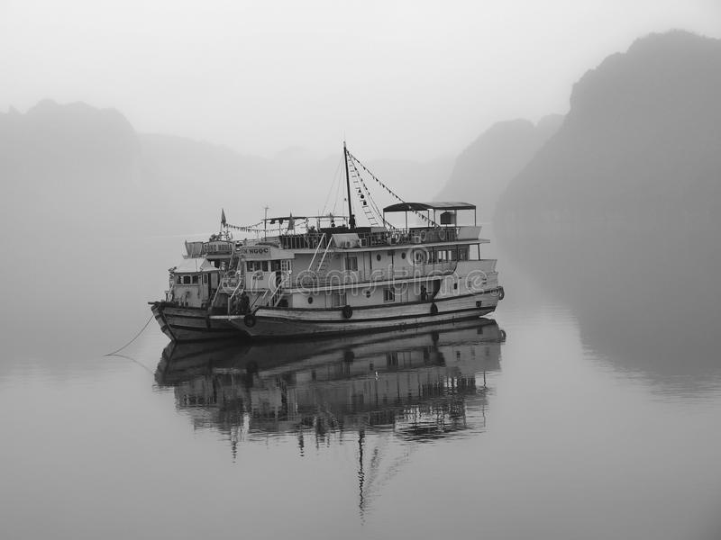 halong Vietnam de compartiment Site de patrimoine mondial de l'UNESCO Les plus populaires pl images libres de droits