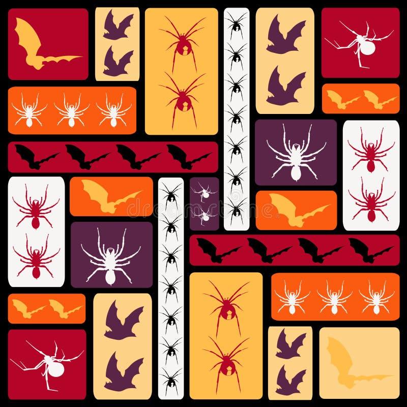 Haloween Muster stock abbildung
