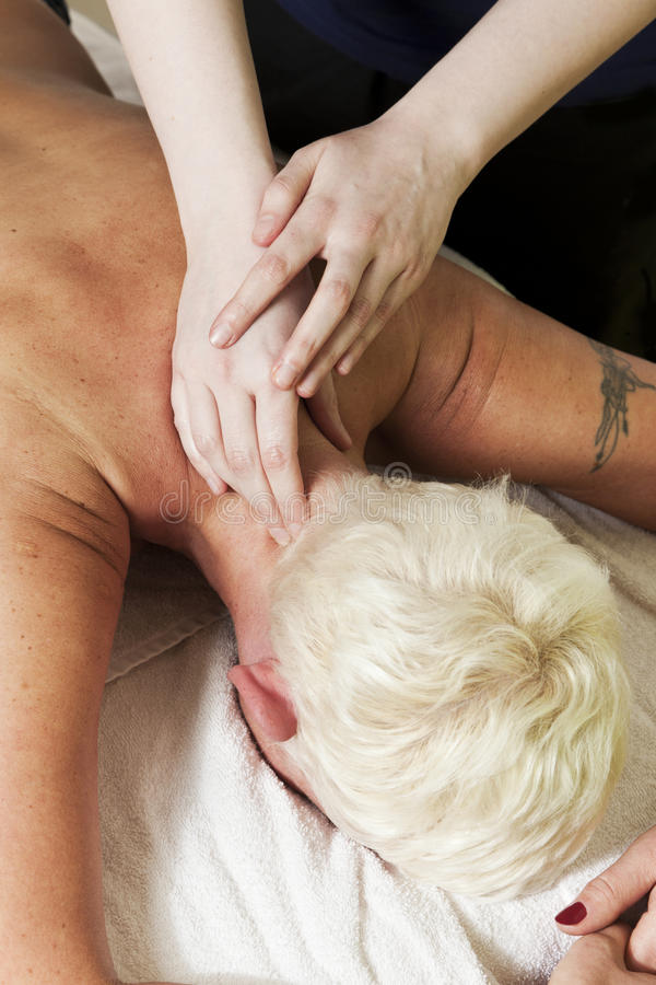 Hals-Massage lizenzfreie stockbilder