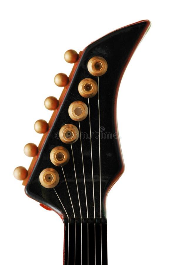 Hals van de geïsoleerdeo gitaar stock foto's