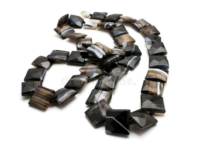 Halsband die van agaat wordt gemaakt stock fotografie