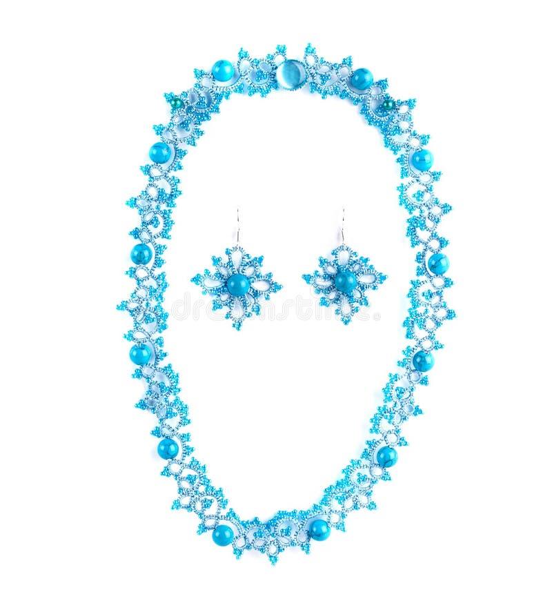 Halsband och örhängen royaltyfri fotografi