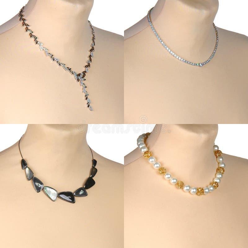 Halsband på skyltdockas hals royaltyfria bilder