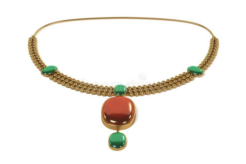Halsband (smycken) vektor illustrationer