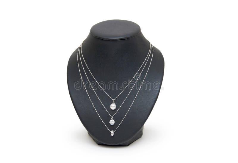 Halsband som isoleras på viten royaltyfria foton