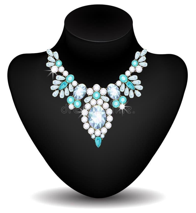 Halsband van diamanten royalty-vrije illustratie