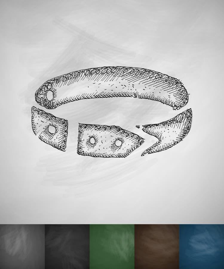 Halsbandpictogram royalty-vrije illustratie