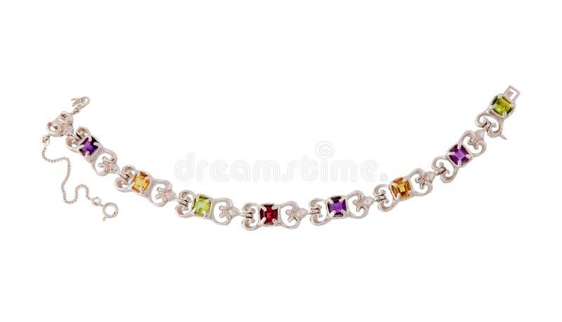 Halskette lokalisiert auf Weiß stockfotos