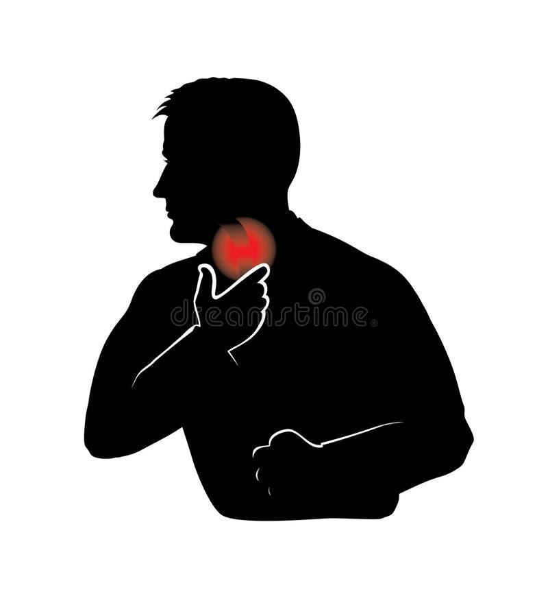 Halsschmerzen vektor abbildung