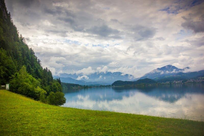 Halstatter jezioro Austria zdjęcie royalty free