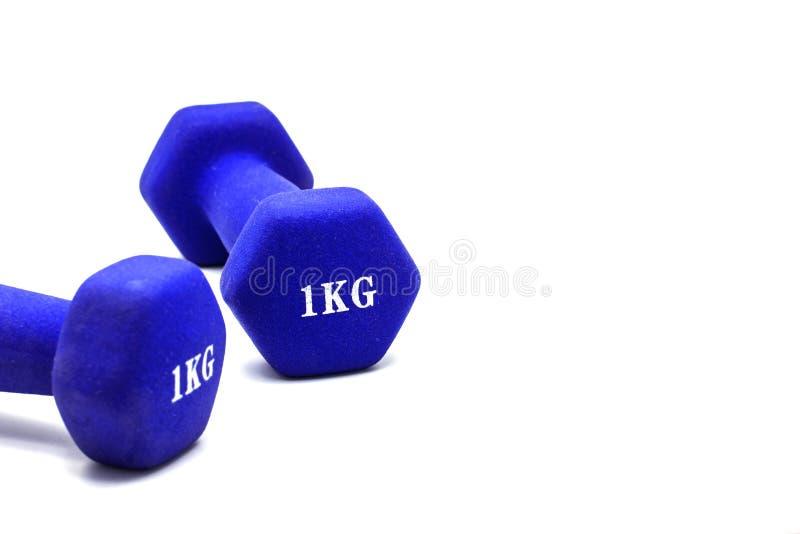 Haltères pesant un kilogramme pour l'exercice photographie stock