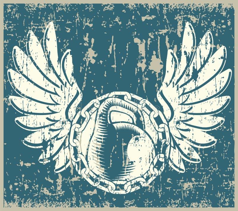 Haltérophilie grunge illustration de vecteur