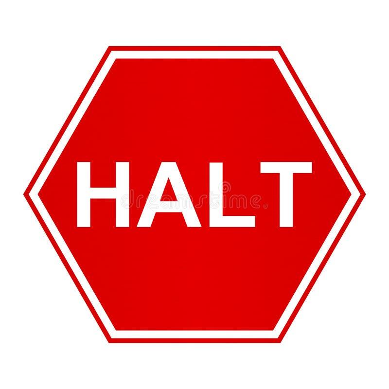 Halt royalty free stock images