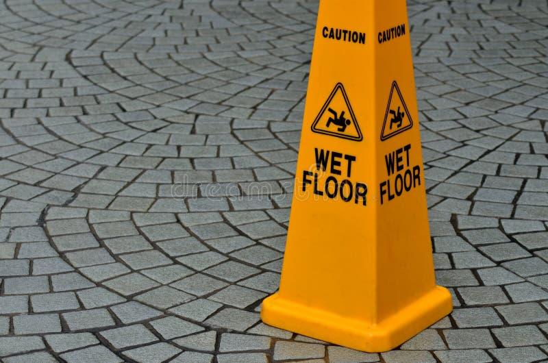 Halt tecken för golvyttersidavarning fotografering för bildbyråer
