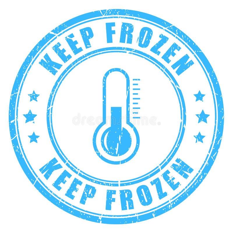 Halten Sie gefrorenen Vektorstempel lizenzfreie abbildung