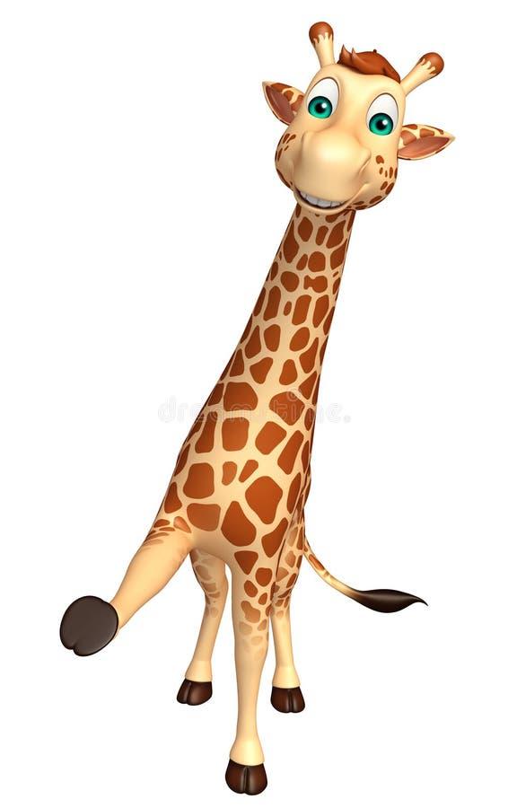 Halten Sie Giraffenzeichentrickfilm-figur stock abbildung