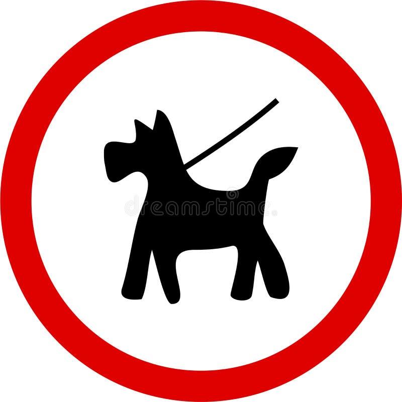 Halten Sie Hund auf Blei stock abbildung