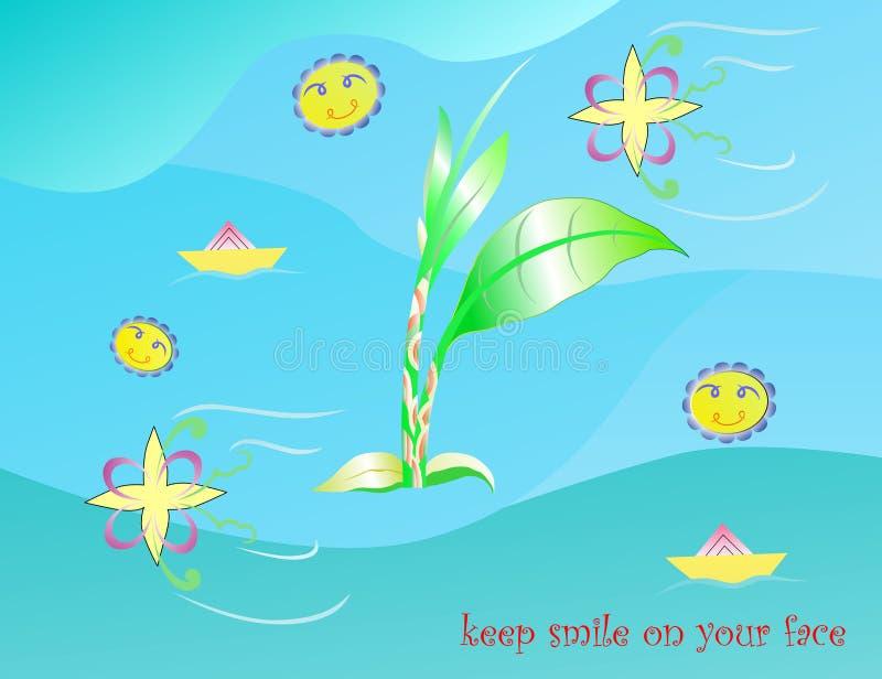 Halten Sie Lächeln stockbilder