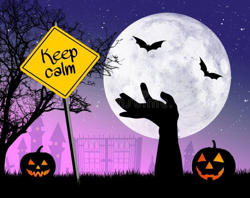 Halten Sie Ruhe auf Halloween lizenzfreie abbildung