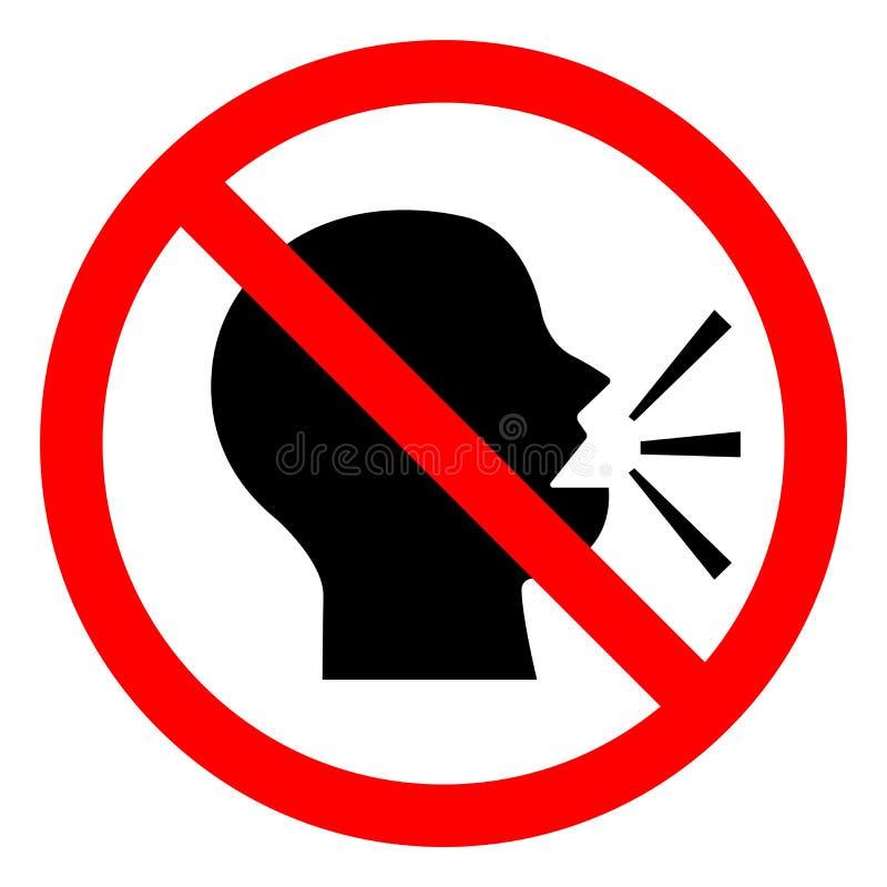 Halten Sie Ruhe-Symbol-Zeichen, Vektor-Illustration, Isolat auf weißer Hintergrund-Ikone EPS10 vektor abbildung
