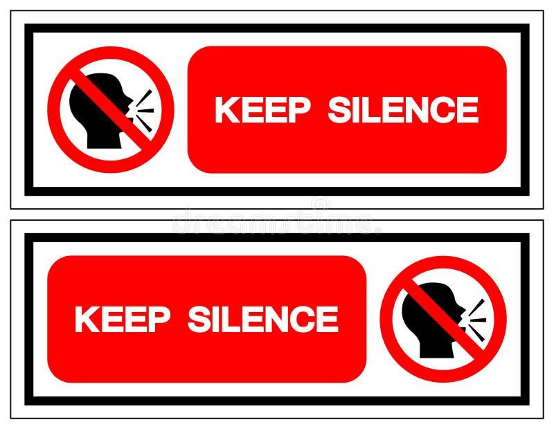 Halten Sie Ruhe-Symbol-Zeichen, Vektor-Illustration, Isolat auf wei?em Hintergrund-Aufkleber EPS10 vektor abbildung