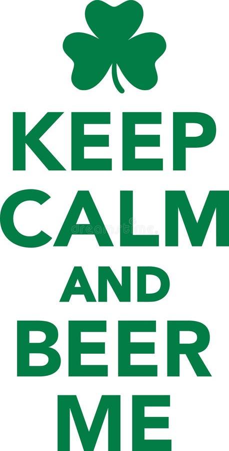 Halten Sie Ruhe und Bier ich lizenzfreie abbildung