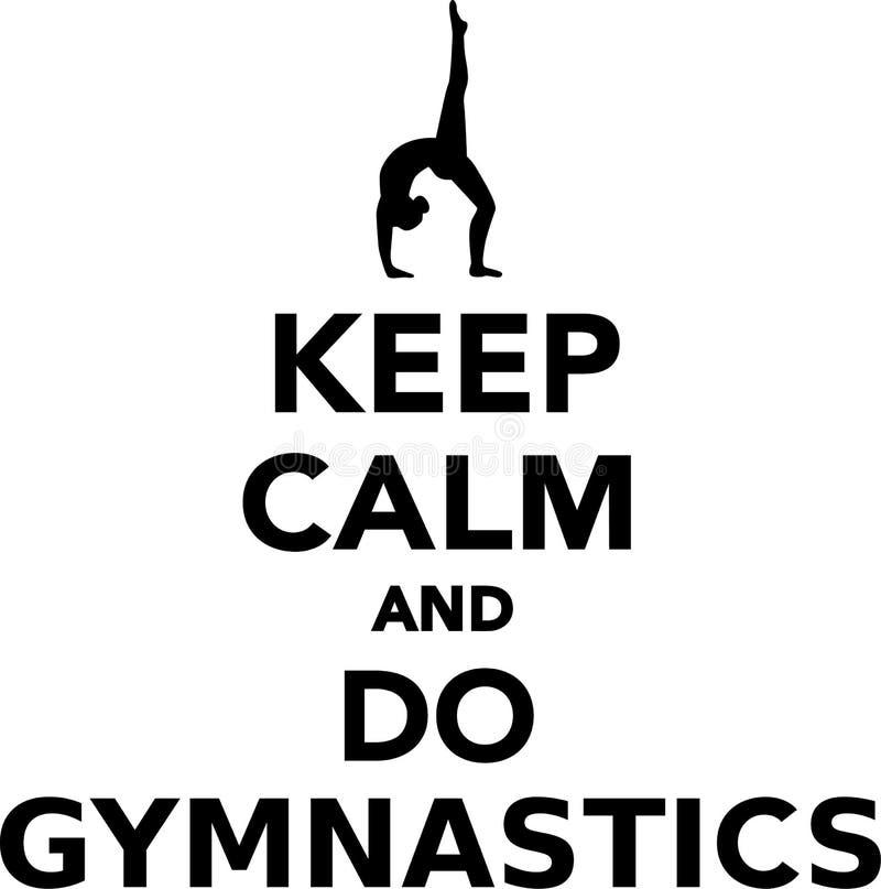 Halten Sie ruhig und tun Sie Gymnastik vektor abbildung