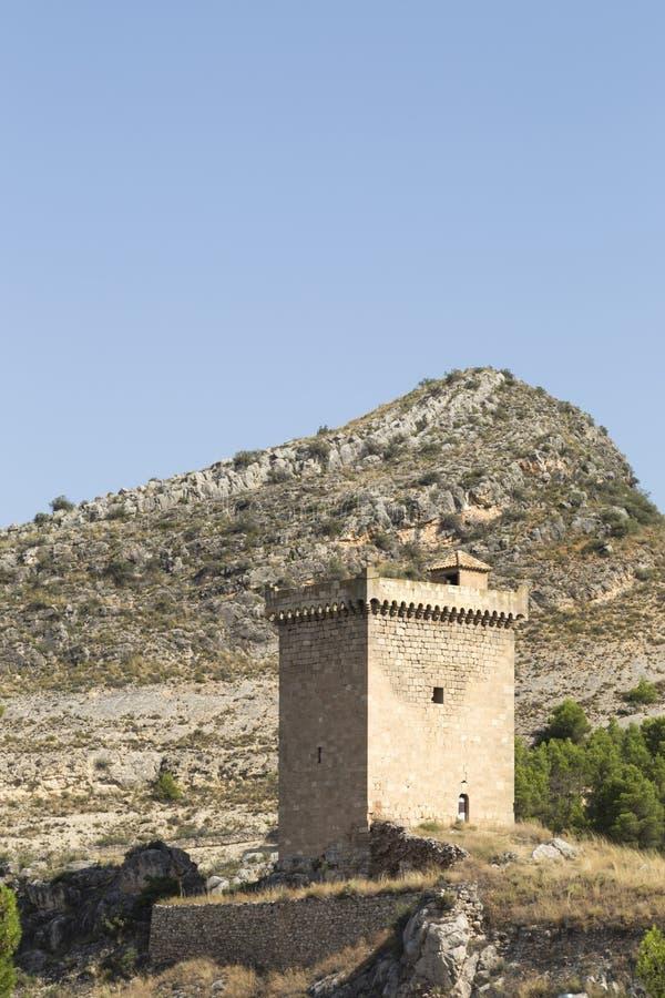 Halten Sie vom Schloss von ³ n, Saragossa, Spanien Alhama de Aragà lizenzfreie stockbilder