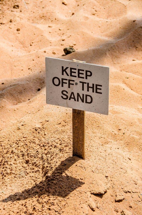 Halten Sie weg vom Sand! stockfotografie