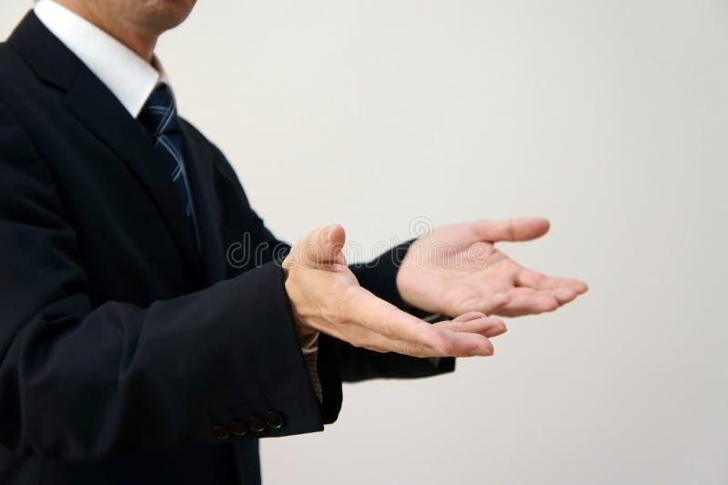 Haltung der Erklärung und der Frage. stockfotografie