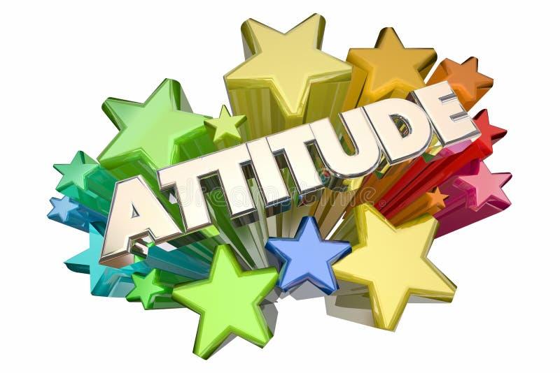 Haltungs-positive Aussicht spielt Wort die Hauptrolle vektor abbildung