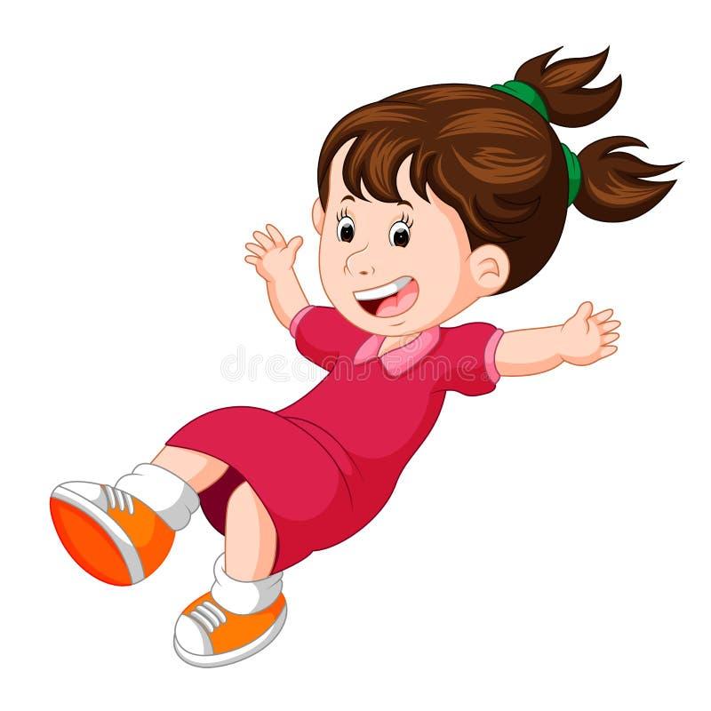 Haltungsfliegen der Karikatur glückliches Kinder stock abbildung