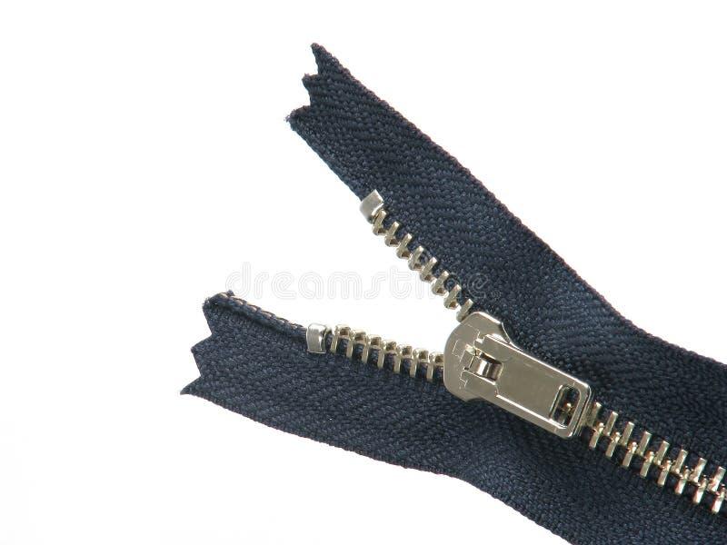 halvöppen zipper royaltyfria foton