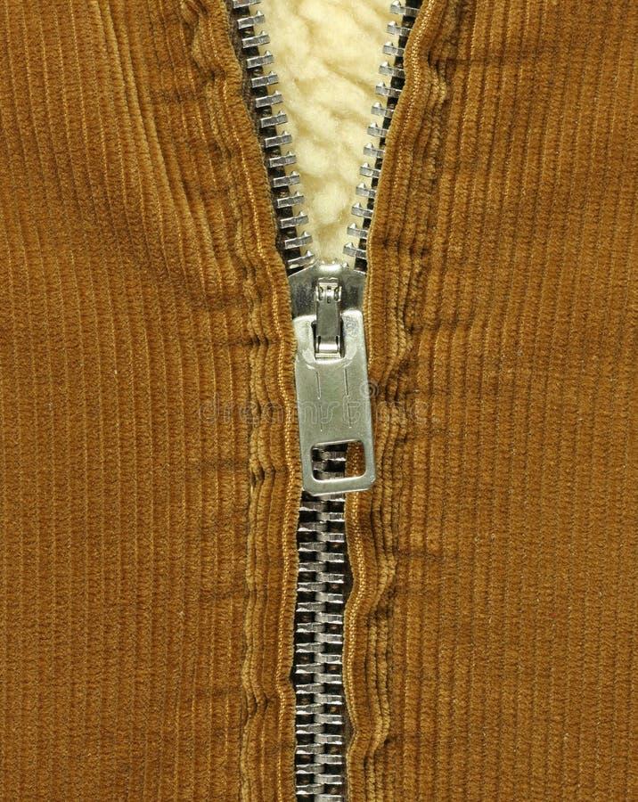 halvöppen zipper för lag arkivbild