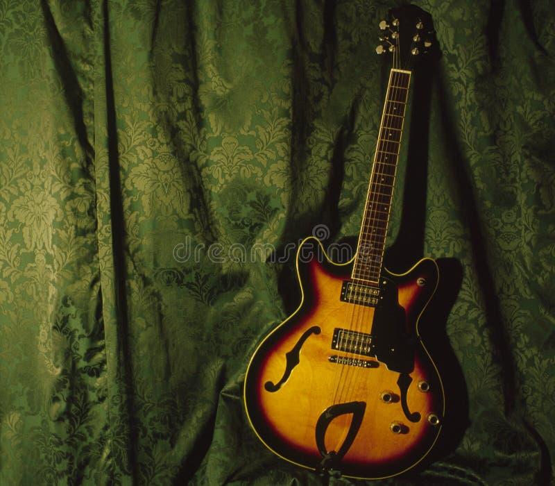halv accoustic gitarr royaltyfri bild