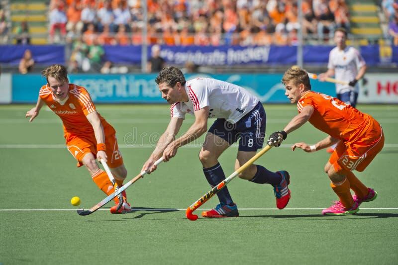 Halv-finaler som är nederländska vs England royaltyfri fotografi