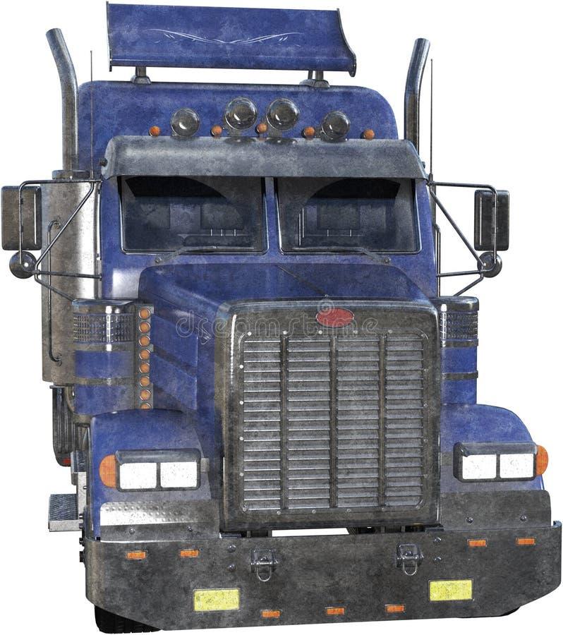 Halv lastbil för traktorsläp som isoleras, person som drar en skottkärra 18 vektor illustrationer