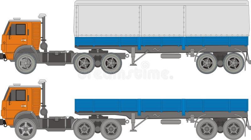 halv lastbilvektor för last vektor illustrationer
