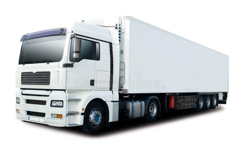 halv lastbilwhite arkivbilder