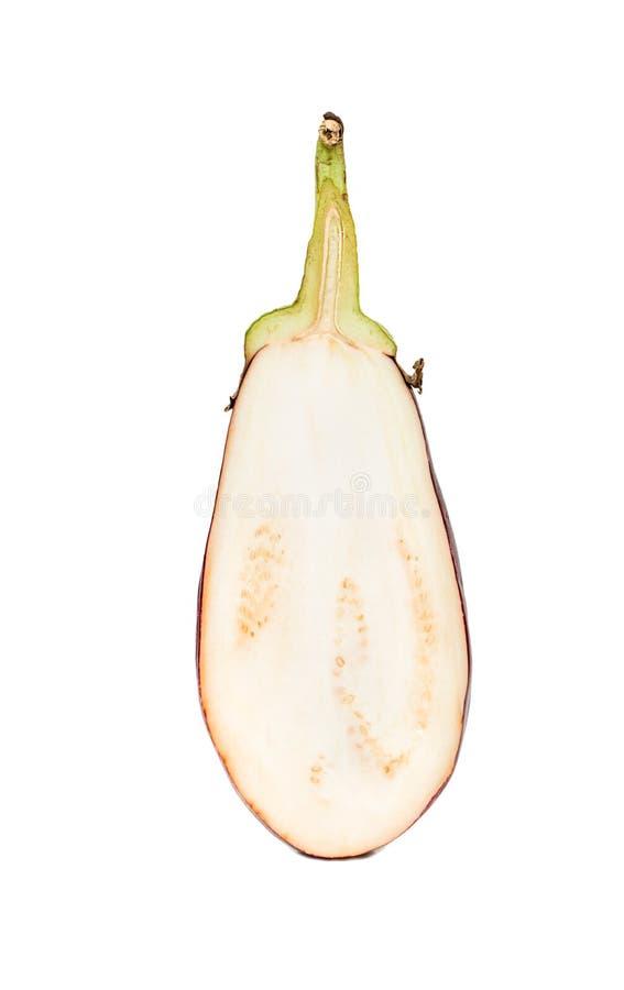 Halv purpurfärgad aubergine royaltyfri bild