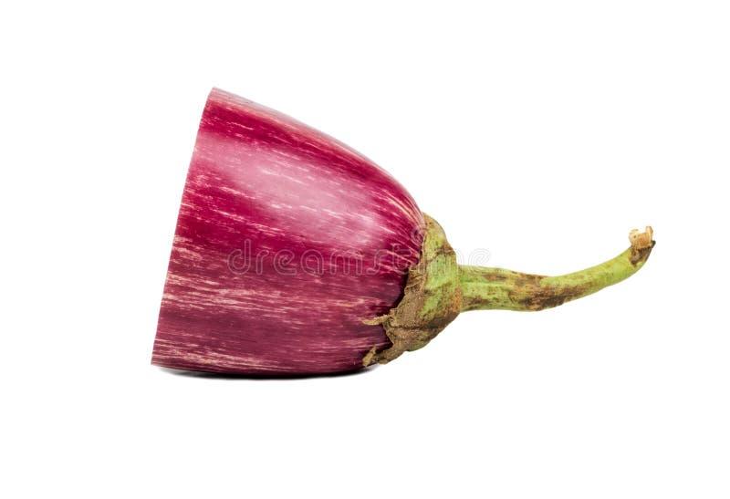 Halv purpurfärgad aubergine arkivfoto
