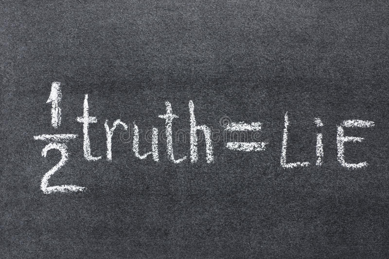 Halv sanning arkivfoton