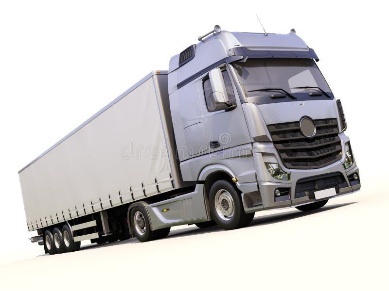 Halv-släp lastbil fotografering för bildbyråer
