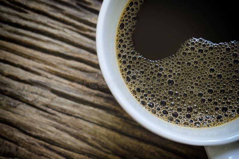Halva av kaffekoppen royaltyfri fotografi