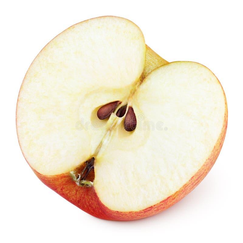 Halva av röd äpplefrukt royaltyfri fotografi