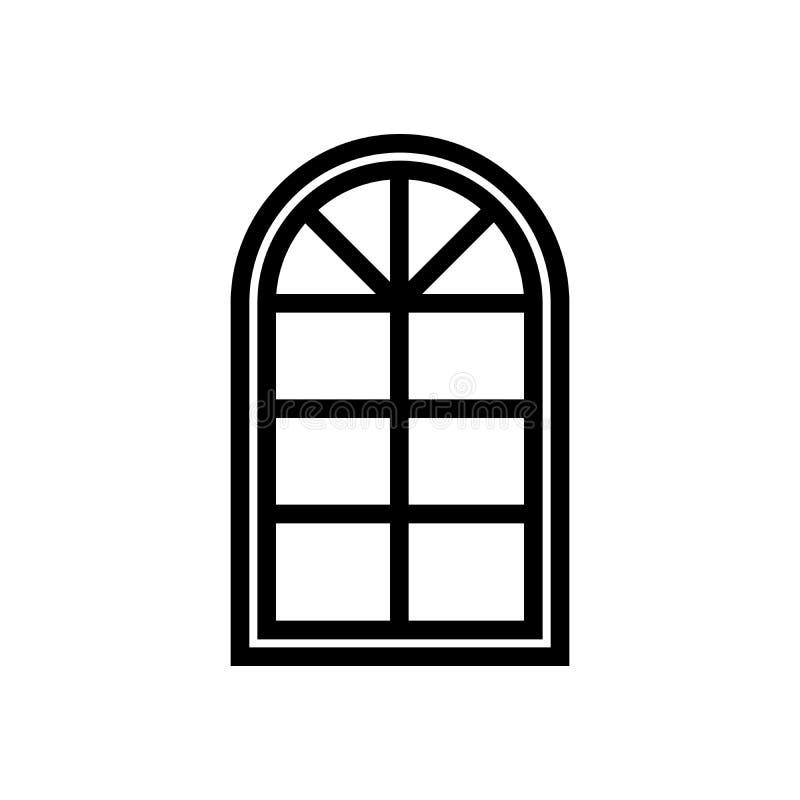 Halvcirkelformig fönstersymbol stock illustrationer