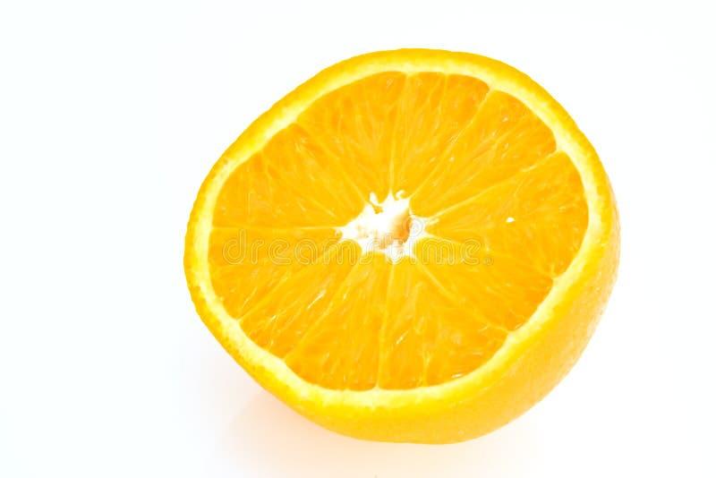 Halve besnoeiingssinaasappel stock afbeeldingen