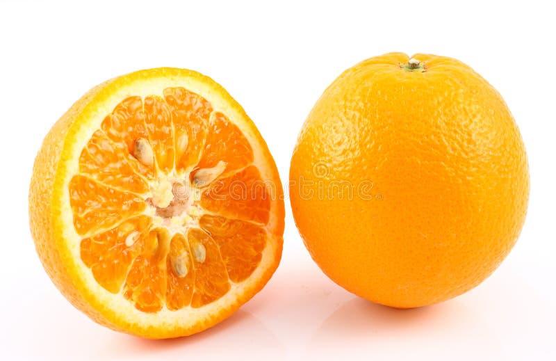 Halve besnoeiingssinaasappel royalty-vrije stock afbeelding
